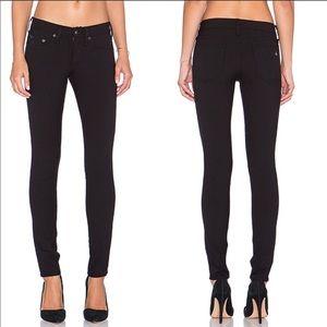 Rag & Bone Slim Skinny In Equestrian Black Jeans